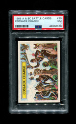 1965 A & BC BATTLE CARDS #30 COSSACK CHARGE PSA 7