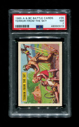 1965 A & BC BATTLE CARDS #35 TERROR FROM THE SKY PSA 7
