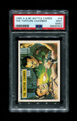 1965 A & BC BATTLE CARDS #44 THE TORTURE CHAMBER PSA 9 (mc)