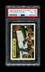 1965 A & BC BATTLE CARDS #46 ASSASSIN IN THE SKY PSA 8