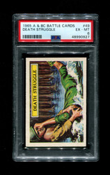 1965 A & BC BATTLE CARDS #49 DEATH STRUGGLE PSA 6