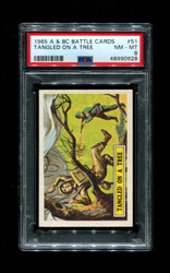 1965 A & BC BATTLE CARDS #51 TANGLED ON A TREE PSA 8