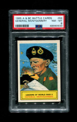 1965 A & BC BATTLE CARDS #64 GENERAL MONTGOMERY PSA 8
