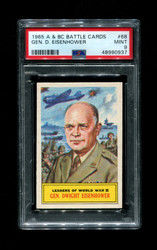 1965 A & BC BATTLE CARDS #68 GEN. D. EISENHOWER PSA 9