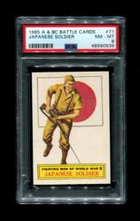 1965 A & BC BATTLE CARDS #71 JAPANESE SOLDIER PSA 8