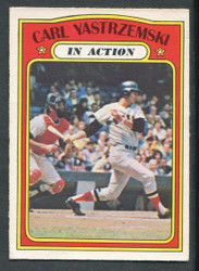 1972 CARL YASTRZEMSKI OPC #38 IN ACTION O PEE CHEE REDSOX EX #1317
