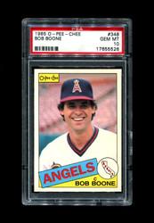 1985 BOB BOONE OPC #348 O PEE CHEE ANGELS PSA 10