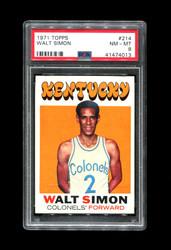 1971 WALT SIMON TOPPS #214 COLONELS PSA 8