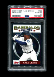 2020 KYLE LEWIS FINEST FLASHBACKS #133 MARINERS PSA 10