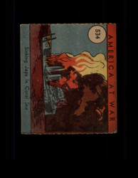 1942 AMERICA AT WAR #534 SINKING JAPS IN CORAL SEA *6976