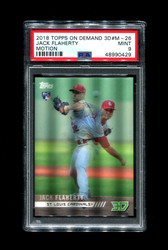2018 JACK FLAHERTY TOPPS ON DEMAND 3D #M-26 ROOKIE MOTION PSA 9