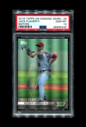 2018 JACK FLAHERTY TOPPS ON DEMAND 3D #M-26 ROOKIE MOTION PSA 10