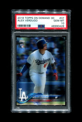2018 ALEX VERDUGO TOPPS ON DEMAND 3D #37 ROOKIE DODGERS PSA 10