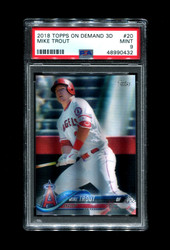 2018 MIKE TROUT TOPPS ON DEMAND 3D #20 ANGELS PSA 9