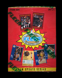 1991 FLEER BASKETBALL UPDATE SERIES FACTORY SEALED BOX
