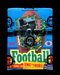 1986 TOPPS FOOTBALL WAX BOX OPCB AUTHENTICATED (X-OUT)