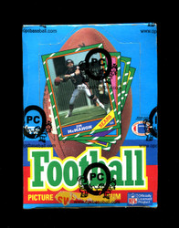 1986 TOPPS FOOTBALL WAX BOX - OPCB AUTHENTICATED