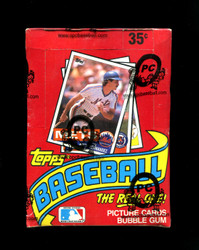 1985 TOPPS BASEBALL WAX BOX FROM A SEALED CASE - OPCB AUTHENTICATED