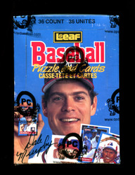 1988 LEAF BASEBALL WAX BOX FROM A SEALED CASE - OPCB AUTHENTICATED