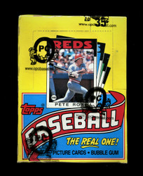 1986 TOPPS BASEBALL WAX BOX FROM A SEALED CASE - OPCB AUTHENTICATED