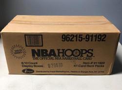 1991 NBA HOOPS BASKETBALL SERIES 1 FACTORY SEALED RACK CASE