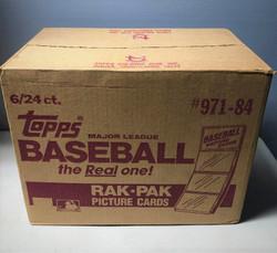1984 TOPPS BASEBALL FACTORY SEALED 6 BOX RACK CASE