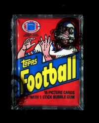 1982 TOPPS FOOTBALL WAX PACK - OPCB AUTHENTICATED