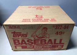 1984 TOPPS BASEBALL FACTORY SEALED 16 BOX CELLO CASE