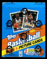 1992 TOPPS SERIES 1 BASKETBALL 24 CT. RACK BOX