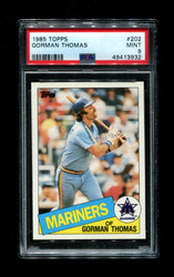 1985 GORMAN THOMAS TOPPS #202 MARINERS PSA 9