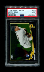 2013 GERRIT COLE TOPPS CHROME #210 PITCHING PSA 9