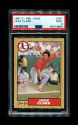 1987 JACK CLARK OPC #331 O-PEE-CHEE CARDINALS PSA 9