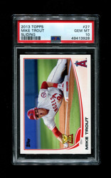 2013 MIKE TROUT TOPPS #27 SLIDING PSA 10