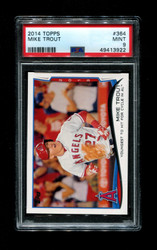 2014 MIKE TROUT TOPPS #364 ANGELS PSA 9