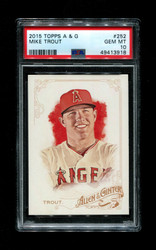 2015 MIKE TROUT TOPPS A & G #252 ANGELS PSA 10