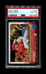 2015 MIKE TROUT TOPPS 510 ANGELS PSA 8