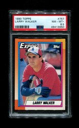 1990 LARRY WALKER TOPPS #757 ROOKIE EXPOS PSA 8.5
