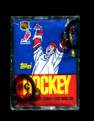 1986 TOPPS HOCKEY WAX PACK OPCB AUTHENTICATED