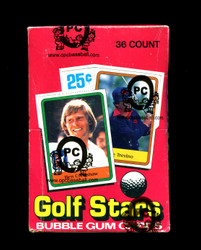 1981 DONRUSS GOLF WAX BOX - OPCB AUTHENTICATED