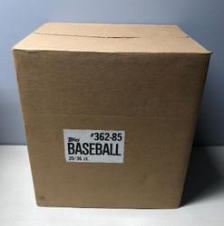 1985 TOPPS BASEBALL FACTORY SEALED 20 BOX WAX CASE
