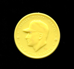 1955 MICKEY MANTLE ARMOUR COINS MANTEL YELLOW YANKEES *9208
