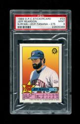 1989 JEFF REARDON OPC STICKERCARD #33 RYAN-20/TANANA-275 PSA 9