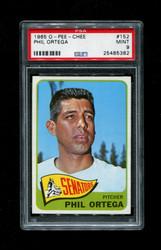 1965 PHIL ORTEGA OPC #152 O-PEE-CHEE SENATORS PSA 9