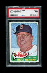 1965 BILLY HERMAN OPC #251 O-PEE-CHEE RED SOX PSA 7