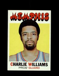 1971 CHARLIE WILLIAMS TOPPS #158 PROS *7941