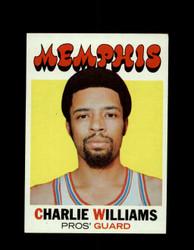 1971 CHARLIE WILLIAMS TOPPS #158 PROS *7940