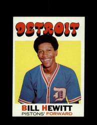 1971 BILL HEWITT TOPPS #23 PISTONS *7852