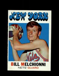 1971 BILL MELCHIONNI TOPPS #199 NETS *7969