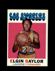 1971 ELGIN BAYLOR TOPPS #10 LAKERS mk *6238