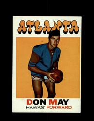 1971 DON MAY TOPPS #6 HAWKS *6575